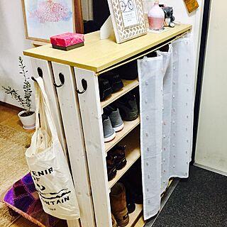 玄関/入り口/靴箱 DIY/スイミー/靴箱/salut!...などのインテリア実例 - 2017-02-07 11:24:36