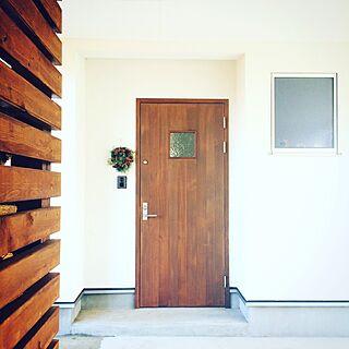 玄関/入り口/green/wreath/door/simple...などのインテリア実例 - 2016-12-05 13:03:56