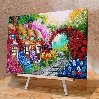 部屋全体/アート/画家さんと繋がりたい/油彩/絵画...などのインテリア実例 - 2021-05-15 19:36:38