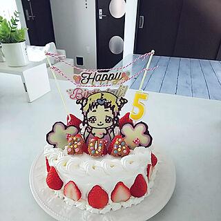 女性家族暮らし3LDK、バースデーケーキに関するRu.emiさんの実例写真