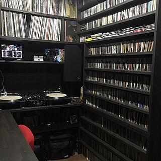 棚/ブラック/DJROOM/Record/DJ ROOM...などのインテリア実例 - 2017-09-19 01:18:01