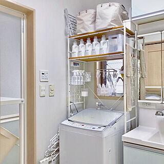 女性家族暮らし4LDK、洗濯機周りに関するmiyuさんの実例写真