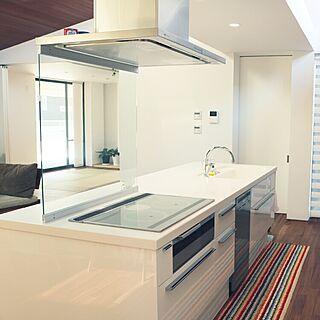 キッチン/ホワイトインテリア/シンプルが好き/こどもと暮らす/掃除がしやすい...などのインテリア実例 - 2017-03-18 21:19:21