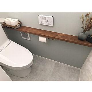 トイレのアクセントクロス/トイレの壁/トイレの収納/トイレットペーパー収納/トイレインテリア...などのインテリア実例 - 2020-08-26 15:43:49