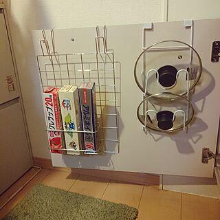 キッチン収納/収納/セリア/鍋蓋/ラップ...などのインテリア実例 - 2017-06-02 22:33:27