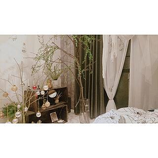 ベッド周り/木のぬくもり/1K 1人暮らし/一人暮らし/賃貸インテリア...などのインテリア実例 - 2020-01-10 18:26:03