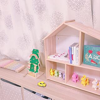 おもちゃ棚/おもちゃ/おもちゃスペース/木琴/セリア...などのインテリア実例 - 2020-02-15 10:41:02