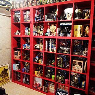 棚/フィギュア棚/GOODYEAR/改造中/おもちゃ収納...などのインテリア実例 - 2015-04-18 08:39:42