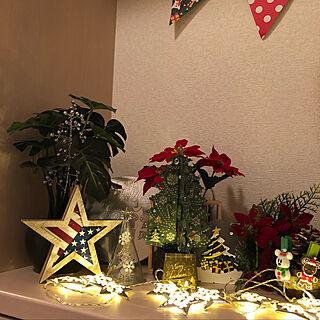 女性家族暮らし4LDK、ポインセチア 造花に関するyossieさんの実例写真