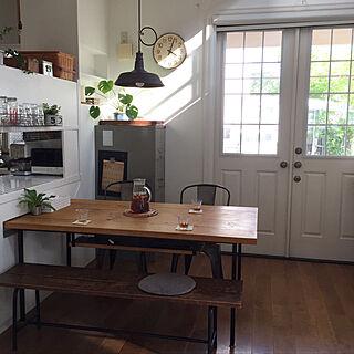 キッチン/ダイニングテーブル/ダイニング/DIY/古道具...などのインテリア実例 - 2018-06-11 19:08:22