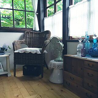 女性家族暮らし、青い瓶に関するokaasanさんの実例写真