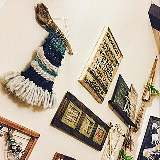 壁/天井/フォトフレームリメイク/流木インテリア/タペストリー/ウィービングタペストリー...などのインテリア実例 - 2017-11-10 16:46:57