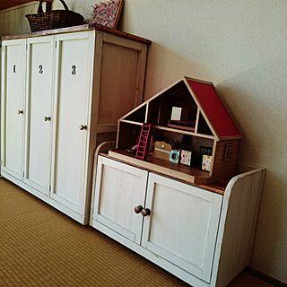 棚/DIY/おもちゃ収納/シルバニア/セリアの取っ手のインテリア実例 - 2016-03-17 10:07:51