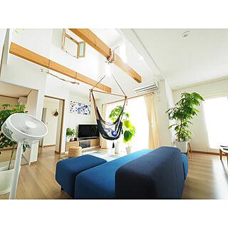 部屋全体/室内窓/DC扇風機/暑さ対策/観葉植物...などのインテリア実例 - 2017-07-28 21:07:06