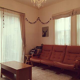 女性48歳の家族暮らし、冬用のリビングに関するnyoro_roさんの実例写真