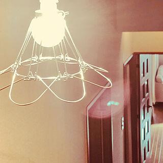 工事用ランプシェード風/工事用照明/玄関照明/プチプラインテリア/男前インテリア...などのインテリア実例 - 2019-11-13 14:44:21