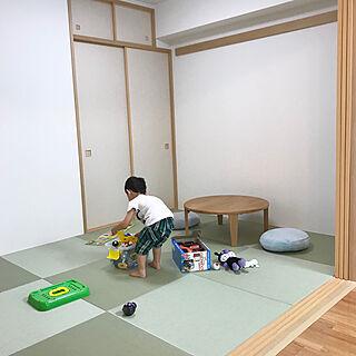 女性30歳の家族暮らし3LDK、ちゃぶ台に関するRisaさんの実例写真