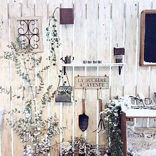 玄関/入り口/いなざうるす屋さん/ユーカリ/板壁DIY/雪景色...などのインテリア実例 - 2017-02-02 08:26:11