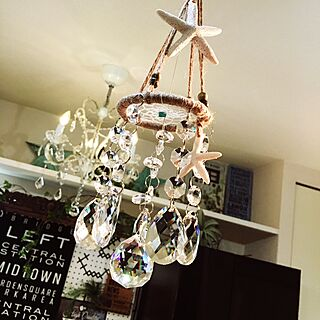 壁/天井/サンキャッチャー/ヒトデ/シェル/Botanical Style...などのインテリア実例 - 2017-05-19 05:24:42