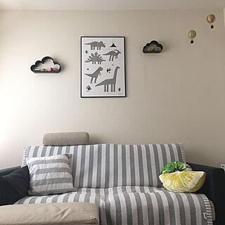 女性36歳の家族暮らし2LDK、雲のモビールに関するminteaさんの実例写真