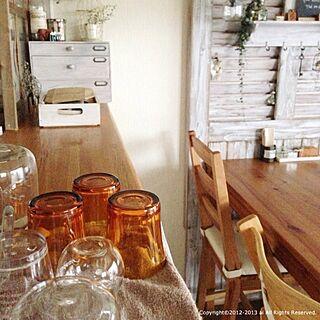 キッチン/洗い物/DURALEX/キッチンカウンター/カフェ風のインテリア実例 - 2013-10-10 14:08:08