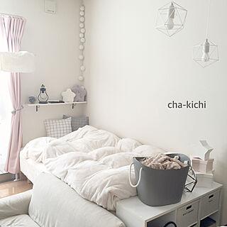 女性一人暮らし1K、いいね&フォローありがとうございます♡に関するcha-kichiさんの実例写真