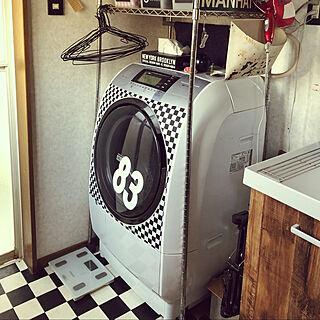 洗濯機リメイク/バス/トイレ/チェッカーのインテリア実例 - 2020-04-18 13:08:59
