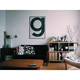 女性42歳の家族暮らし1LDK、アルファベットポスターに関するIgako7121さんの実例写真