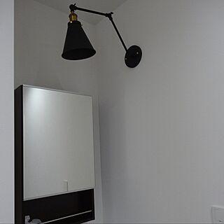 玄関/入り口/ブラケットランプ/ブラケットライト/可動式照明/玄関ホールにある手洗い洗面のインテリア実例 - 2017-04-28 16:08:41