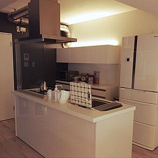 アイランドキッチン/IKEA/DIY/モノトーン/LIXIL...などのインテリア実例 - 2021-01-20 05:06:21