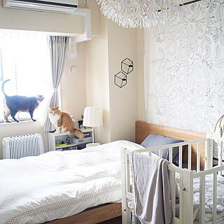 女性家族暮らし3LDK、ベッド IKEAに関するReikoさんの実例写真