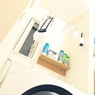 女性家族暮らし、洗濯機まわりに関するharuさんの実例写真