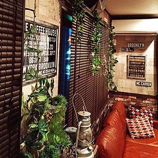 壁/天井/電球/ランタン/壁紙屋本舗/セリア...などのインテリア実例 - 2016-05-29 19:00:54