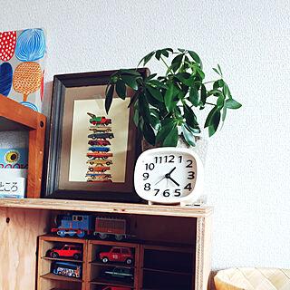 女性36歳の家族暮らし3DK、時計のある生活に関するfumiyo.01さんの実例写真