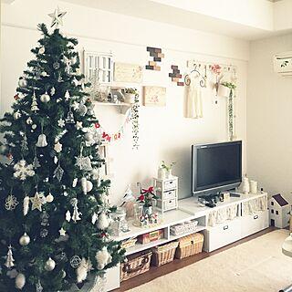 部屋全体/クリスマスツリー/クリスマス雑貨/ポインセチアのインテリア実例 - 2014-12-14 12:02:19
