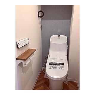 バス/トイレ/リクシルのトイレ/タオル掛け/ジムフック/狭いトイレ...などのインテリア実例 - 2018-08-22 14:36:06