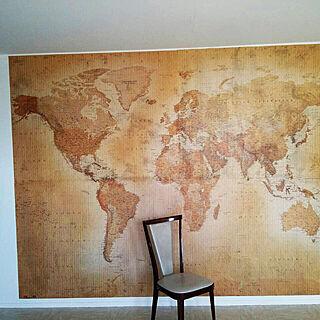 世界地図/壁面世界地図/DIY/壁/天井のインテリア実例 - 2019-11-04 08:51:25