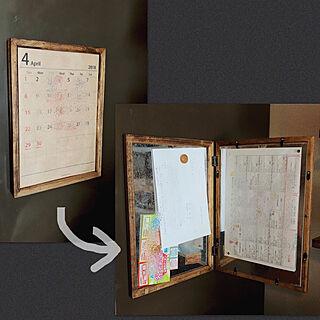 キッチン/カレンダー/BRIWAX/お手紙隠し/DIY...などのインテリア実例 - 2018-04-10 13:16:33