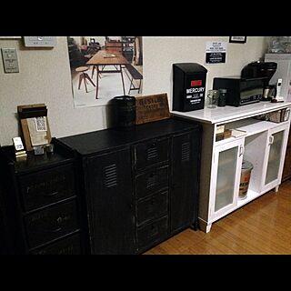 キッチン/男前/雑貨/DIY/白黒...などのインテリア実例 - 2014-09-04 19:16:37