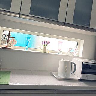 女性41歳の家族暮らし4LDK、Kitchen フェイクラベンダーに関するhiyoriさんの実例写真