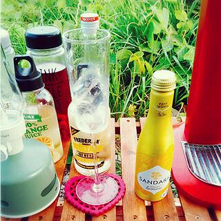 スパークリングワイン/レモン/SANDARA スパークリングワイン/キャンプ/かんぱーい♪...などのインテリア実例 - 2020-06-29 17:59:46