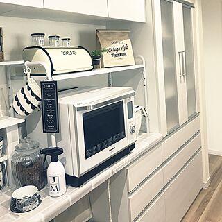 女性家族暮らし、キッチン家電は白に関するikt.tamaさんの実例写真