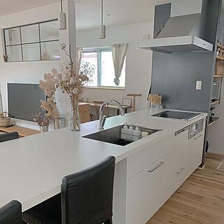 オープンキッチン/キッチン収納/室内窓/リビングダイニング/食洗機...などのインテリア実例 - 2019-10-15 20:28:32