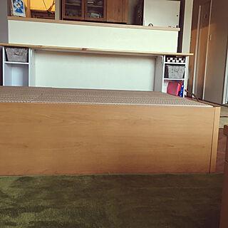 棚/ニトリカラーボックス/こあがりスペース/DIY/畳ベッド...などのインテリア実例 - 2017-09-25 23:41:15