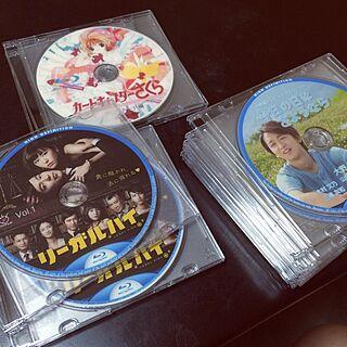 部屋全体/レーベル印刷/整理整頓中/整理収納部/DVD&Blu-ray&CD...などのインテリア実例 - 2014-09-06 23:40:52