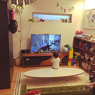 男性家族暮らし4LDK、かりもくソファに関するT.naruさんの実例写真