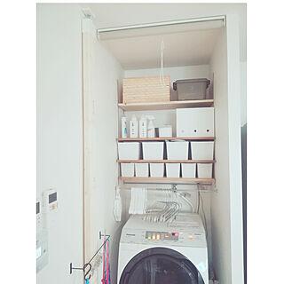 、洗濯機の上の棚♪に関するyuki224さんの実例写真