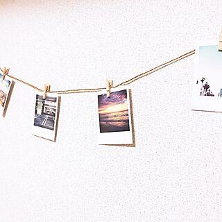 壁/天井/チェキ写真/チェキ/ガーランド手作り/ガーランド...などのインテリア実例 - 2017-06-22 14:43:59