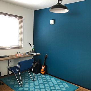部屋全体/ブルー系/趣味スペース/碧い/青い部屋...などのインテリア実例 - 2019-01-29 01:28:45