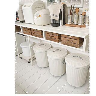 女性家族暮らし4LDK、ゴミ箱 ペイントに関するmocoさんの実例写真